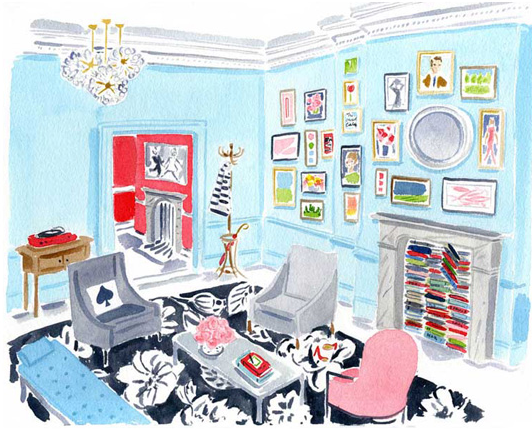 A Sketch Of The Kate Spade Store On Fifth Avenue In NYC By Caitlin McGauley  U2013 Who Also Designs Some Stationery And IPhone Cases For The Brand.