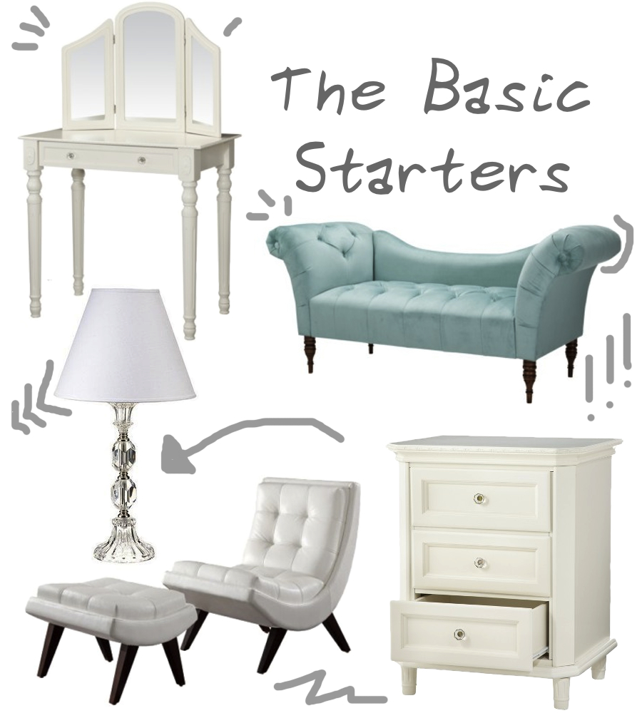Department store decor 2 the walkup 10999 shabby chic vanity table top left click geotapseo Images