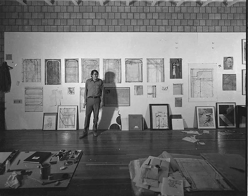 Richard Diebenkorn in his studio by Manitoba Museum of Finds Art