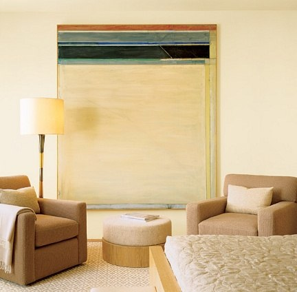A painting from Richard Diebenkorn's Ocean Park series.
