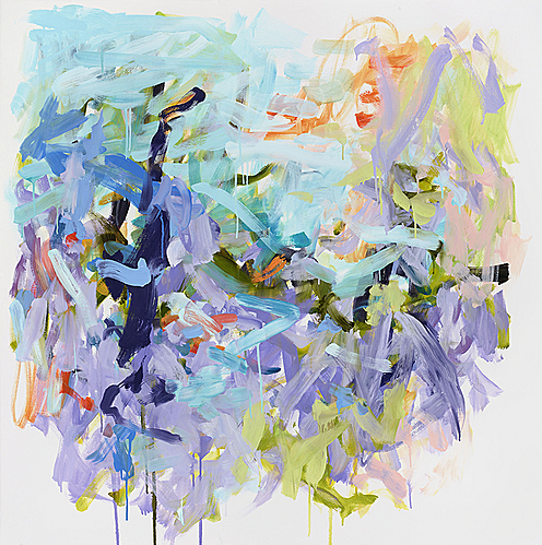 Yolanda Sanchez, Midsummer Magic, 2012 Oil on canvas, 48 x 48 in. (121.9 x 121.9 cm)