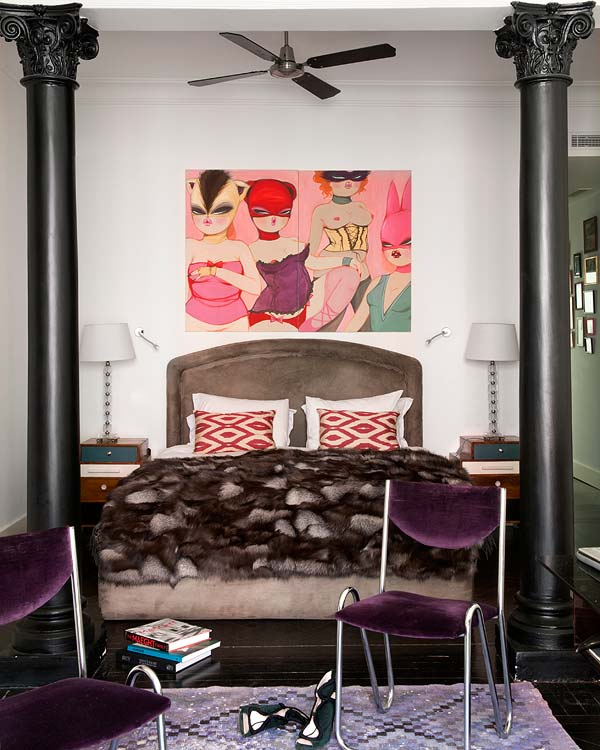 Interior design of Sabine Marchal