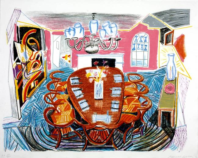 David Hockney, Tyler Dining Room 1984 © David Hockney 2010