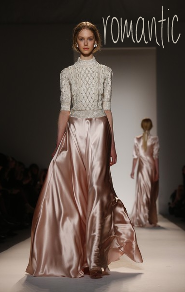 romantic_ Jenny Packham during the Mercedes Benz Fashion Week Fall 2013
