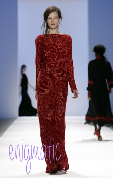The Tadashi Shoji Fall 2013 Fashion Week in New York Thursday, Feb. 7, 2013