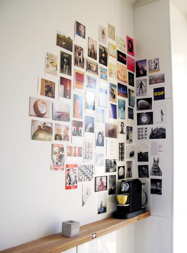 Postcard Corner Display in the Kitchen