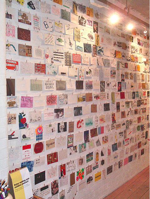 Postcard Wall Display