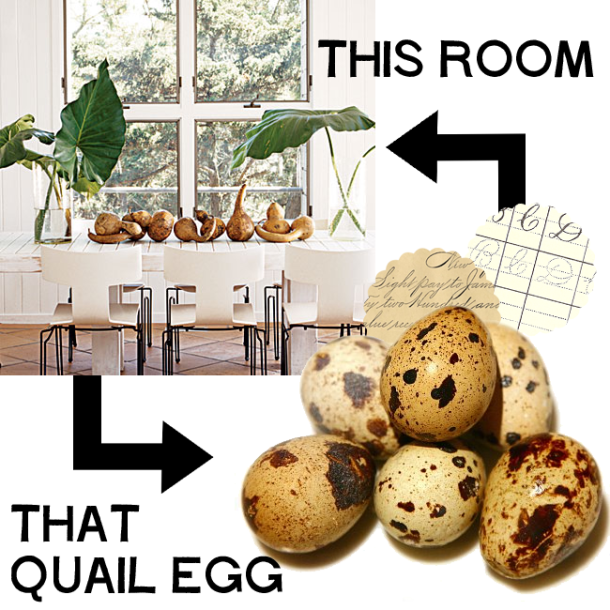 Quail Eggs and Coastal Living