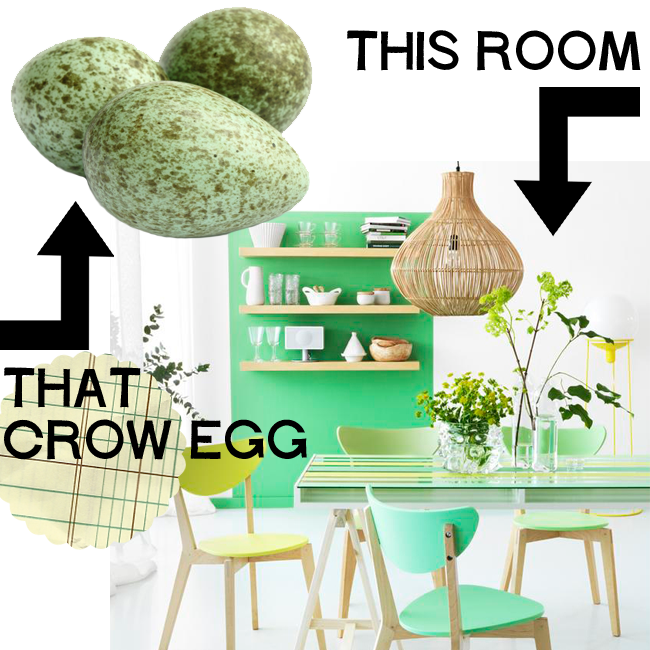 Crow Eggs and Scandinavian, Midcentury Modern Accents