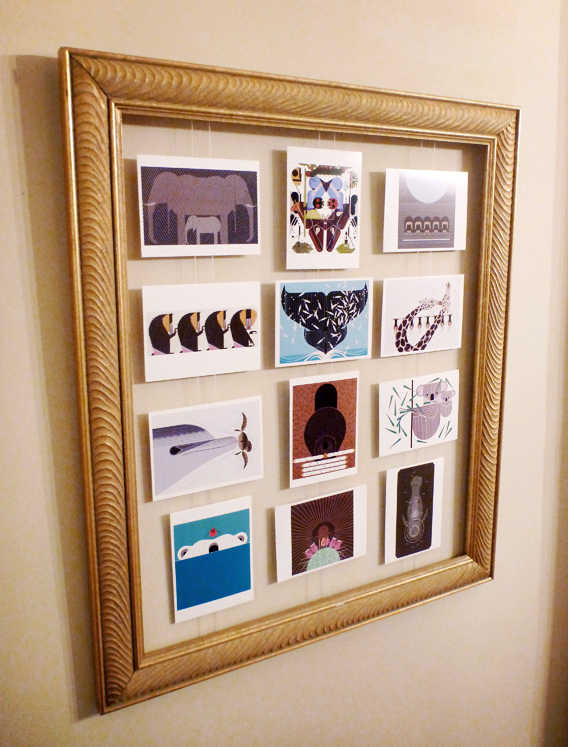Framed Postcard Display